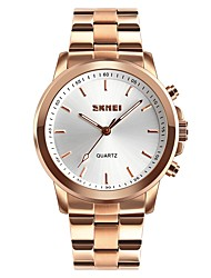 cheap -SKMEI Women's Couple's Casual Watch Fashion Watch Dress Watch Japanese Quartz Black / Silver / Gold 30 m Water Resistant / Waterproof Large Dial Analog Ladies Luxury Casual - Black Silver Rose