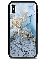 cheap -Case For Apple iPhone X / iPhone 8 Plus / iPhone 8 Pattern Back Cover Lines / Waves / Marble Hard Acrylic
