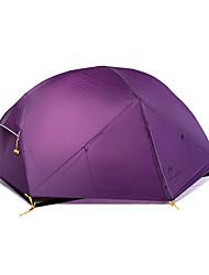 Недорогие -Naturehike 2 человека Туристические палатки На открытом воздухе Водонепроницаемость С защитой от ветра Дожденепроницаемый Двухслойные зонты Карниза Сферическая Палатка >3000 mm для