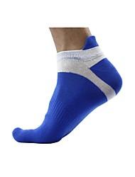 cheap -Compression Socks Athletic Sports Socks Running Socks 1 Pair Men's Tube Socks Socks Toe Socks Basketball Tennis Basketball Outdoor Exercise Sports Solid Colored Cotton Dark Grey White Black
