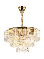 cheap -15-Light QIHengZhaoMing 60 cm Crystal / Eye Protection Chandelier Crystal Crystal Electroplated LED / Chic & Modern 110-120V / 220-240V