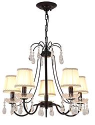cheap -LightMyself™ 5-Light Chandelier / Pendant Light Ambient Light Metal Crystal 110-120V / 220-240V Bulb Not Included / E12 / E14