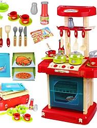 Недорогие -Игрушка кухонные наборы Кухонная раковина Play Kitchen Семья утонченный Взаимодействие родителей и детей Пластиковый корпус Детские Девочки Игрушки Подарок 30 pcs