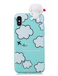 cheap -Case For Apple iPhone XS / iPhone XR / iPhone XS Max Shockproof / Pattern / DIY Back Cover Dog / Cartoon / 3D Cartoon Soft TPU