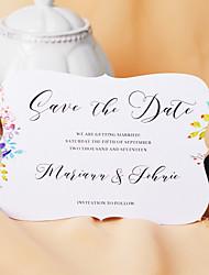 abordables -Carte plate Faire-part mariage Paquet de 50 / Paquet de 20 - ensembles de Faire-Part Style artistique Papier nacre