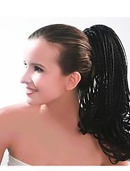 Недорогие -Клип во/на Wig Accessories Медведь-коготь / челюсть Афро-конский хвост Искусственные волосы Волосы Наращивание волос Прямой 22 дюймы На