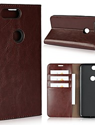 cheap -Case For OnePlus One Plus 5 / OnePlus 5T / One Plus 3 Wallet / Card Holder / Shockproof Full Body Cases Solid Colored Hard Genuine Leather