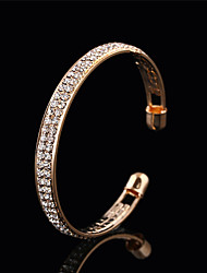 cheap -Women's Crystal Geometric Bangles / Cuff Bracelet - Sweet, Elegant Bracelet Gold / Silver For Wedding / Evening Party