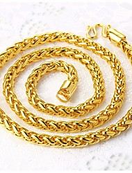 cheap -Men's Chain Necklace Baht Chain franco chain Mariner Chain Rock Dubai Gold Plated Metal Gold Necklace Jewelry For Street Club