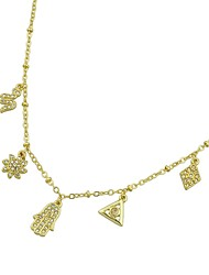 cheap -Women's Choker Necklace Snake Flower Simple Alloy Gold Hamsa Hand 52 cm Necklace Jewelry For Party / Evening School