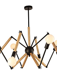 cheap -LightMyself™ 8-Light 110 cm Black & White Chandelier Metal Wood / Bamboo Painted Finishes Modern Contemporary / Traditional / Classic 110-120V / 220-240V