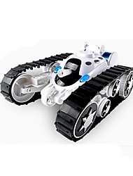 cheap -666-888 Crawler / Tank 1:24 Brushless Electric RC Car 2.4G Ready-to-go Remote Controller / Transmmitter / Tank / 1 Charging Station Glow / Music / 360°Rotation