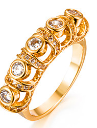 cheap -Women's Band Ring Cubic Zirconia tiny diamond Gold Gold Plated Geometric Ladies Fashion Wedding Gift Jewelry