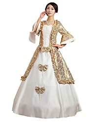 cheap -Fairytale 1920s Renaissance Dress Outfits Party Costume Masquerade Women's Costume White Vintage Cosplay Sleeveless Ball Gown Plus Size Customized