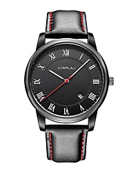 cheap -Men's Fashion Watch Japanese Quartz Genuine Leather Black 30 m Casual Watch Analog Casual - White  / Silver Black / White Black / Silver