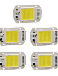 cheap -5pcs 50W 220V DIY COB LED Chip Bulb Bead for Flood Light