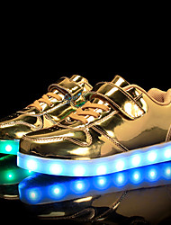 cheap -Boys / Girls USB Charging  LED / Comfort / LED Shoes PU Sneakers Little Kids(4-7ys) / Big Kids(7years +) Walking Shoes Lace-up / Hook & Loop / LED Black / White / Gold Spring / Fall
