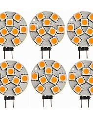 cheap -6pcs 1.5 W LED Bi-pin Lights 270 lm G4 T 9 LED Beads SMD 5050 Decorative Warm White 12 V / CE Certified