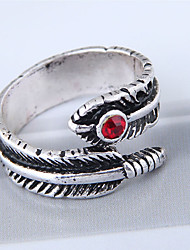 cheap -Women's Band Ring wrap ring Silver Alloy Ladies Vintage European Causal Jewelry Leaf