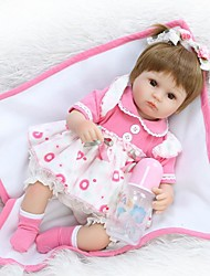 cheap -NPKCOLLECTION NPK DOLL Reborn Doll Baby 16 inch Silicone Vinyl - Newborn lifelike Cute Hand Made Child Safe New Design Kid's Unisex / Girls' Toy Gift / Natural Skin Tone / Floppy Head / Non Toxic