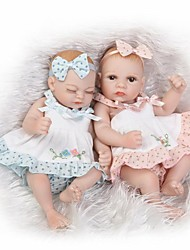 cheap -NPKCOLLECTION NPK DOLL Reborn Doll Girl Doll Baby Girl 10 inch Full Body Silicone Silicone Vinyl - Newborn lifelike Cute Hand Made Child Safe Non Toxic Kid's Unisex Toy Gift / Natural Skin Tone