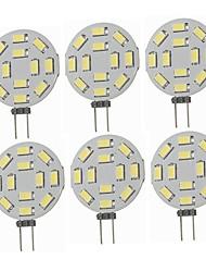 cheap -6pcs 1.5 W LED Bi-pin Lights 360 lm G4 T 12 LED Beads SMD 5730 Decorative Warm White Cold White 12-24 V