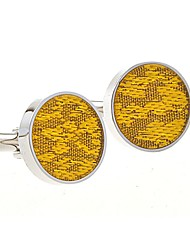 cheap -Cufflinks Simple Casual Brooch Jewelry Silver Yellow For Wedding Daily