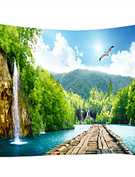 cheap -Wall Tapestry Art Decor Blanket Curtain Picnic Tablecloth Hanging Home Bedroom Living Room Dorm Decoration Nature Landscape River Waterfall Mountain
