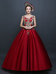 cheap -Princess Rococo Renaissance Dress Party Costume Masquerade Ball Gown Women's Costume Red Vintage Cosplay Sleeveless Floor Length