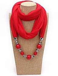 cheap -Women's Basic Cotton Infinity Scarf - Solid Colored Tassel / Acrylic / Fabric