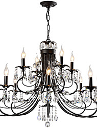 cheap -12 Bulbs LightMyself™ 95 cm Crystal Chandelier / Pendant Light Metal Painted Finishes Rustic / Lodge / Artistic 110-120V / 220-240V