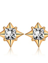 cheap -Women's Diamond Cubic Zirconia Stud Earrings Ladies Simple Fashion Zircon Earrings Jewelry Gold / Silver For Daily Holiday