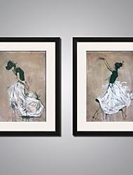 Недорогие -Отпечатки на холсте Современный, 2 панели холст Вертикальная С картинкой Декор стены Украшение дома