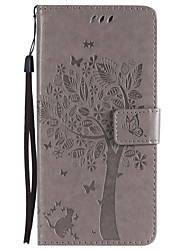 cheap -Case For Motorola Moto Z / Moto Z Force / Moto X Play Wallet / Card Holder / with Stand Full Body Cases Tree Hard PU Leather