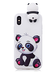 cheap -Case For Apple iPhone XS / iPhone XR / iPhone XS Max Shockproof / Pattern / DIY Back Cover Cartoon / 3D Cartoon / Panda Soft TPU