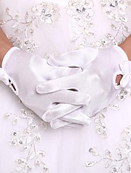 cheap -Orlon Wrist Length Glove Flower Girl Gloves With Faux Pearl / Ruffles