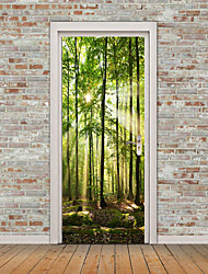 cheap -Landscape / Still Life Wall Stickers Plane Wall Stickers / 3D Wall Stickers Door Stickers, Vinyl Home Decoration Wall Decal Wall / Glass / Bathroom Decoration 1pc / Re-Positionable