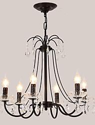 cheap -LightMyself™ 6-Light Candle Chandelier / Pendant Light Ambient Light Metal Crystal 110-120V / 220-240V Bulb Not Included / E12 / E14