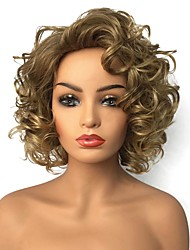 cheap -Synthetic Wig Curly Curly Wig Blonde Medium Length Blonde Synthetic Hair Women's Highlighted / Balayage Hair Blonde StrongBeauty