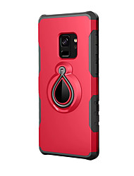 cheap -Case For Samsung Galaxy S9 / S9 Plus with Stand Back Cover Solid Color Hard Plastic