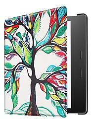 Недорогие -Кейс для Назначение СИН Kindle Oasis 2(2nd Generation, 2017 Release) Ультратонкий Чехол Геометрический рисунок / Эйфелева башня / Сова Твердый Кожа PU