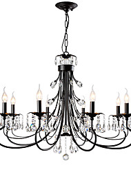 cheap -LightMyself™ 8-Light 92 cm Crystal Chandelier Metal Painted Finishes Nature Inspired / Modern Contemporary 110-120V / 220-240V
