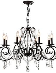 cheap -LightMyself™ 8-Light 78 cm Crystal Chandelier / Pendant Light Metal Painted Finishes Artistic / Traditional / Classic 110-120V / 220-240V