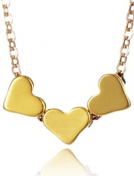 cheap -Women's Pendant Necklace Heart Fashion Chunky Alloy Gold Silver Necklace Jewelry For Daily Office & Career
