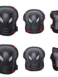 cheap -Knee Pads + Elbow Pads + Wrist Pads for Inline Skates / Hoverboard / Roller Skates Breathable / Protective 6 pack
