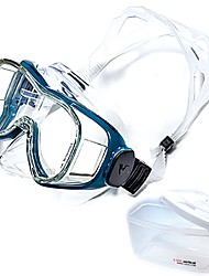 cheap -Snorkel Mask Anti Fog Professional Level Easily Adjustable Dry Top Adjustable Strap Two-Window - Swimming Diving Scuba Tempered Glass - For Adults White / Black Blue / White Black Dark Blue Silver