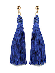 cheap -Women's Drop Earrings Hanging Earrings Tassel Ladies Ethnic Fashion Earrings Jewelry Red / Light Coffee / Royal Blue For Prom Going out