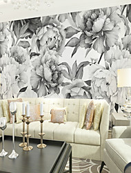cheap -3D Sketch Peony Custom Large Wall Covering Mural Wallpaper Fit Bedroom Bedroom TV Background