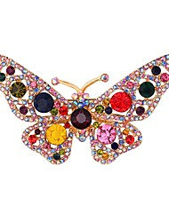 cheap -Women's Brooches Butterfly Animal Ladies Sweet Brooch Jewelry Golden For Daily Date