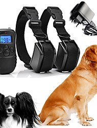 cheap -Dogs Bark Collar Dog Training Collars Waterproof Rechargeable Vibrating Micro Electric Shock No Harm To Dogs or other Pets Plastics Nylon Black